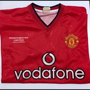 Other - Manchester United Vodafone L RED Jersey PREOWNED